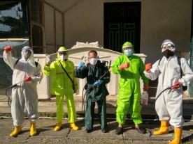 Penyemprotan Disinfektan di Wilayah RW 03 Kelurahan Kadipaten